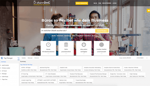 Show Case: Analytics und Tracking shareDnC