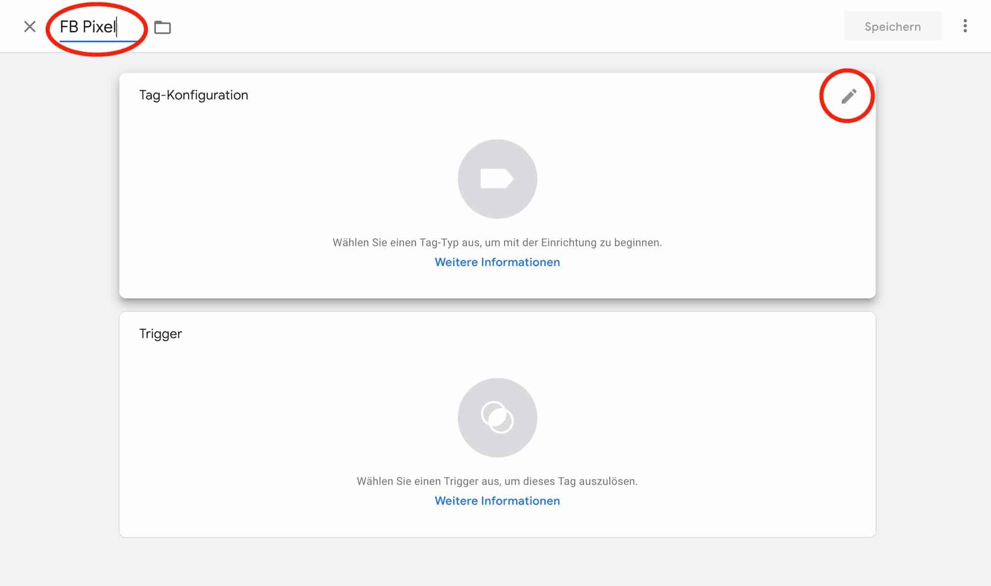 aGoogle Tag Manager Tag Konfiguration