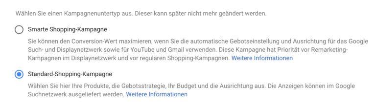 Google Shopping Kampagnen