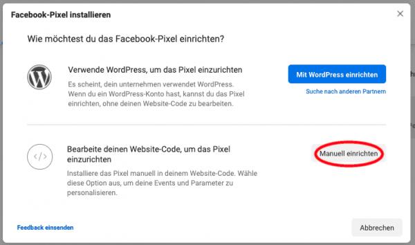 Facebook Pixel installieren